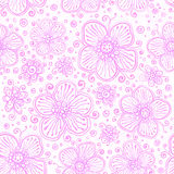 Light pink flourish seamless pattern Stock Images
