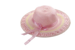Light pink girlish summer hat Royalty Free Stock Images