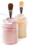 Light pink and gold make-up eyeshadows Stock Photo