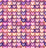Light pink hearts shining seamless pattern Stock Photography