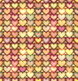 Light pink hearts shining seamless pattern Stock Image