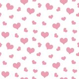 Light pink hearts Valentine`s Day pattern seamless.  Royalty Free Stock Images