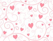 Free Light Pink Hearts Vine Background Royalty Free Stock Image - 3909876