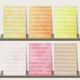 Light pink,orange,yellow watercolor collection background for ba vector illustration