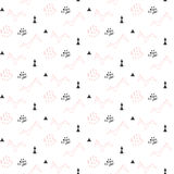 Light pink origami bird seamless pattern for kids and babies. Stock Photography
