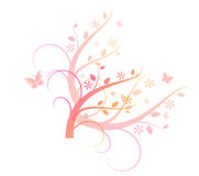 Light pink ornaments Stock Images