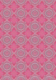 Light pink oval openwork patterns on pink seamless background Stock Photography