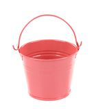 Light pink pail. Stock Photography