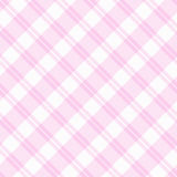 Light pink Plaid Fabric Background. A light pink plaid striped fabric  background that is seamless and repeats Stock Photo