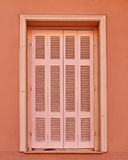 Light pink shutters window Royalty Free Stock Photo