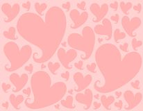 Light Pink Valentine Hearts Background Pattern Stock Images