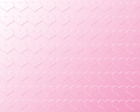 Light Pink Valentine Hearts in Bas Relief Against Light Pink Background Royalty Free Stock Photos