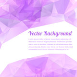 Light pink vector abstract polygonal background Stock Images