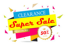 Light pink yellow blue gold red paper banner Royalty Free Stock Images