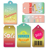 Light pink yellow blue gold red paper banner. With star Royalty Free Stock Images