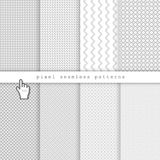 Light pixel seamless patterns Royalty Free Stock Photo