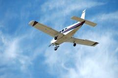 Light plane. Landing, Palo Alto Airport, California stock photos