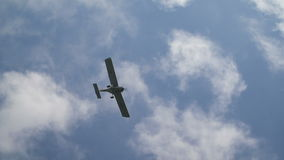 Light plane in air. Airshow stock video footage