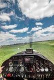 Light Plane Landing Royalty Free Stock Images