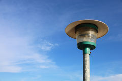 Light pole with blue sky Royalty Free Stock Photography