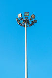 Light pole on blue sky Stock Photo