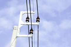 Light pole. Electric pole with sky as background Royalty Free Stock Images