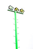 Light pole green isolated Royalty Free Stock Photography