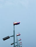 Light pole model boat with the sky Stock Photo