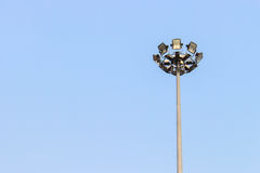 Light pole. Pillar of fire to give light in different directions. There are lots of lights Royalty Free Stock Photos