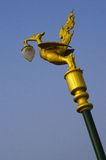 Light pole. Sculpture thai swan light pole Royalty Free Stock Photography