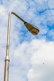 Light pole on the sky. Light pole on the blue sky stock image