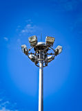 Light pole and spotlight Royalty Free Stock Photo