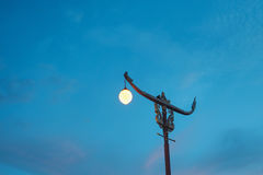 Light pole thai style. With blue sky Stock Images
