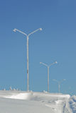 Light poles Royalty Free Stock Photos