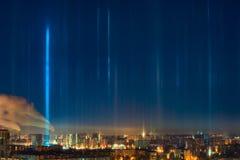 Light poles natural phenomenon Stock Photos