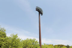 Light poles in the stadium Stock Images