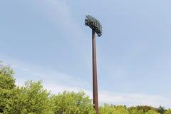 Light poles in the stadium Stock Images
