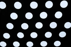 Light of polka dot pattern. Bright sky in perforated metal holes Stock Images