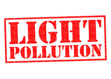 LIGHT POLLUTION Royalty Free Stock Image
