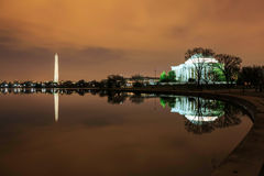 Light Pollution Sky Washington DC Landmarks Royalty Free Stock Images