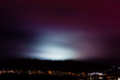 Light pollution from sports fields Royalty Free Stock Images