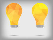Light polygon idea concept Royalty Free Stock Photo