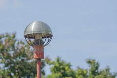 Light Post old With Blue Sky Background.  Stock Photos