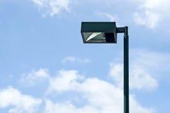 Light post on sky background Royalty Free Stock Photo