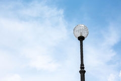 Light post Street light  with blue sky Royalty Free Stock Images