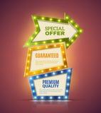 Light Premium Banners Set Royalty Free Stock Photos