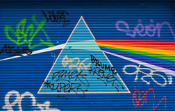 Light prism and graffiti Royalty Free Stock Images