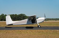 Light private airplane Stock Photos