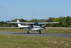 Light private airplane Royalty Free Stock Photo