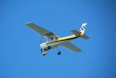 Light private plane. General aviation single engine private propeller plane Stock Photos